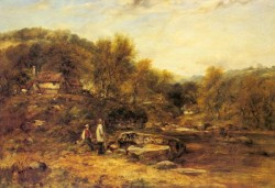 Anglers By A Stream