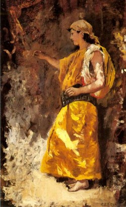 Standing Arab Woman