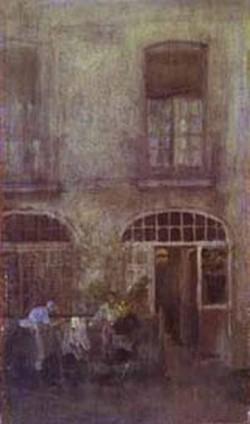 White and grey the hotel courtyard dieppe 1885 xx fogg art museum harvard university cambridge ma usa