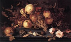 Still Life With Dish Of Fruit