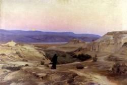 Totes Meer Mit Moabitergebirge Abendstimmung