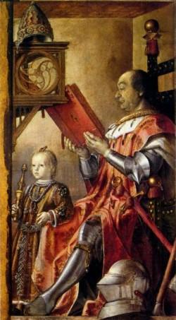 Federico Da Montefeltro With His Son Guidobaldo