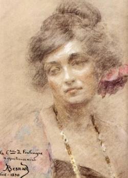 Besnard Albert Portrait Of A Woman