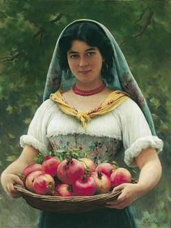 Blaas Eugen von Madchen mit granatapfeln