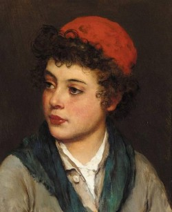 Blaas Eugen von Portrait of a Boy