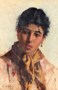 Blaas Eugen von Portrait of a Woman