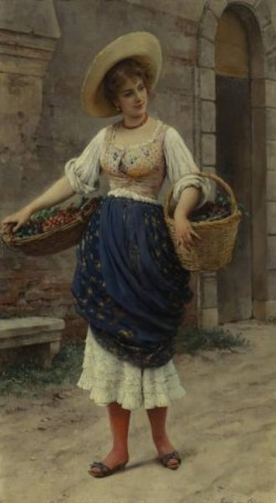 Young Beauty with Fruit Basket