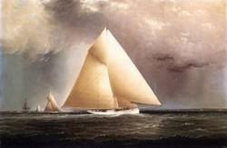 Gracie Vision and Cornelia rounding Sandy Hook in the New York Yacht Club Regatta of June 11 1874 1874
