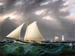The Match between the Yachts Vision and Meta Rough Weather 1873