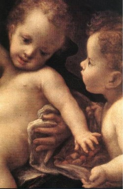 Virgin And Child With An Angel Detail 1