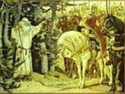 Oleg meeting the magus 1899 xx illustration for alexander pushkins the song of prince oleg