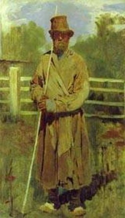 Peasant with a pole study 1877 xx the tretyakov gallery moscow russia