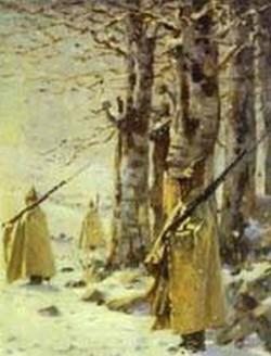 Picket in the balkan mountains 1878 xx the museum of russian art kiev ukraine