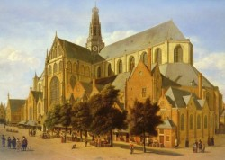 1638 to 1698 The Exterior Of The Church Of Saint Bavo In Harlem SnD 1666 O P 605 by 845cm