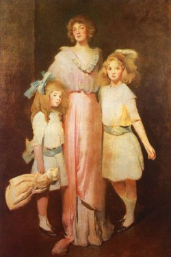 Mrs Daniels with Two Children