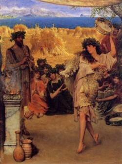 Alma Tadema A Harvest Festival A Dancing Bacchante at Harvest Time