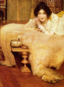Alma Tadema A Listner