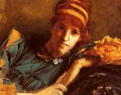 Alma Tadema Sir Laurence Portrait Of Miss Laura Theresa Epps