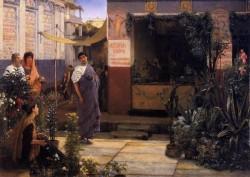Alma Tadema The Flower Market