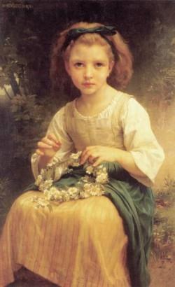 Bouguereau Enfant tressant une couronne