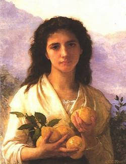 Girl Holding Lemons 1899