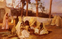 Women At The Cemetery Algiers