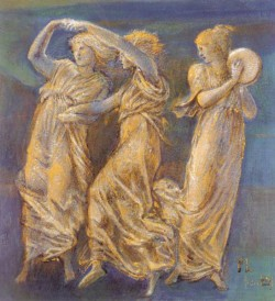 Burne Jones Sir Edward Coley Three Female Figures Dancing And Playing