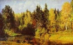 autumn in abramtzevo 1896 XX tula region russia