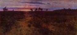 sunset 1890s XX tula region russia