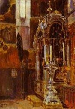 the shrine of the metropolitan iona in the uspensky cathedral 1877 XX moscow russia