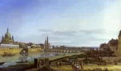 dresden from the right bank of the elbe above the augustus bridge 1750 XX national gallery of ireland dublin ireland