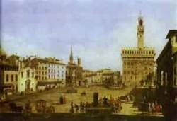 signoria square in florence early 1740s XX museum of fine arts budapest hungary