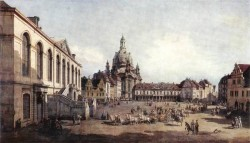 New Market Square In Dresden From The Judenhof
