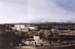 View Of The Villa Cagnola At Gazzada Near Varese