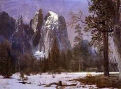 new big Cathedral Rocks Yosemite Valley Winter