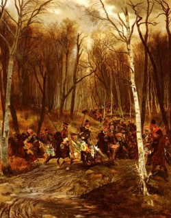 Detaille Jean Baptiste Edouard Cossacks attacked By The Royal Guard