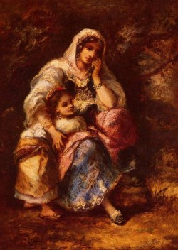 Gypsy Mother And Child