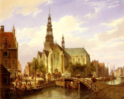Dommersen Cornelis Christian A Capriccio View Of Amsterdam
