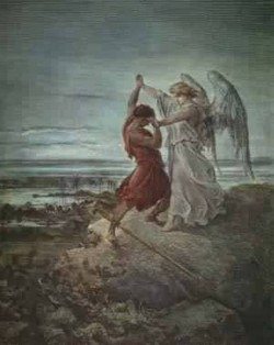 jacob wrestling with the angel 1855 XX granger collecti
