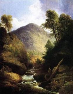 Waterfall with Fisherman 1830