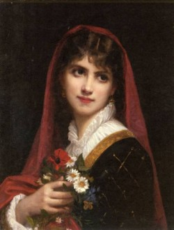 A Young Beauty Wearing A Red Veil