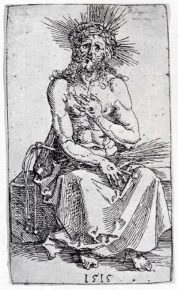 Durer Man Of Sorrows Seated
