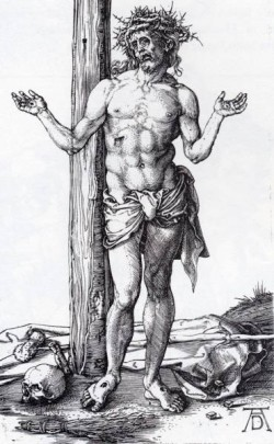 Durer Man Of Sorrows With Hands Raised