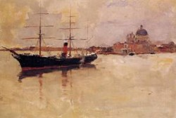 Ship in Grand Canal 1881