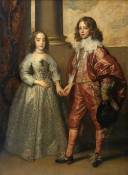 Dyck Anthony van William II Prince of Orange and Princess Henrietta Mary Stuart