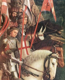 The Ghent Altarpiece The Soldiers of Christ detail