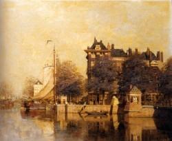 Moored Sailing Vessels Along A Quay Amsterdam
