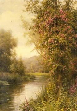 A Flowering Vine Along A Winding Stream