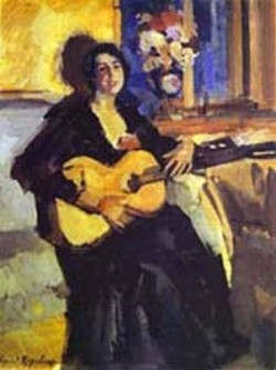 lady with guitar 1911 regional museum of fine arts kostroma russia