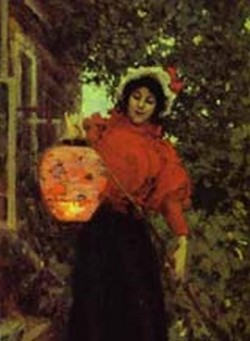 paper lanterns detail 1898 the tretyakov gallery moscow russia